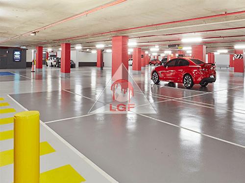 pardoseală epoxidică parcare auto